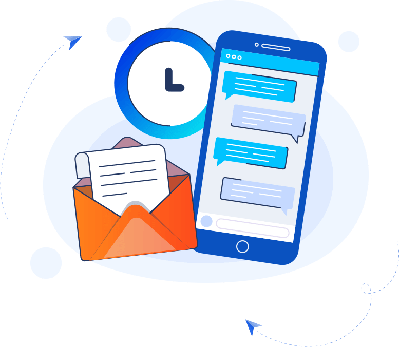 image of email and phone in marketing